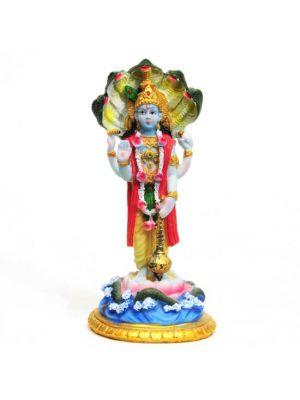 Painted Polyresin Vishnu 6.5