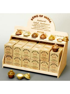 Smooth Stone Jar Solid Perfume Display - 36 pcs and Testers