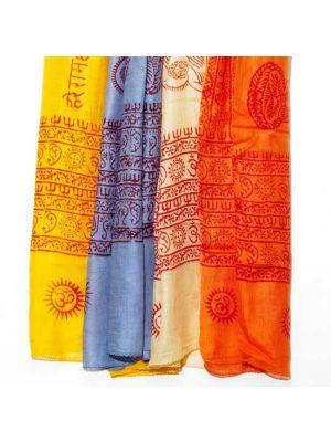 Hindu Spiritual Rayon Scarves Set/8