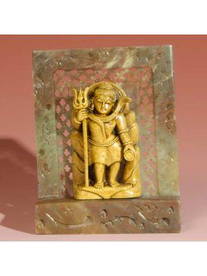 Stone Shrine Standing Shiva  4