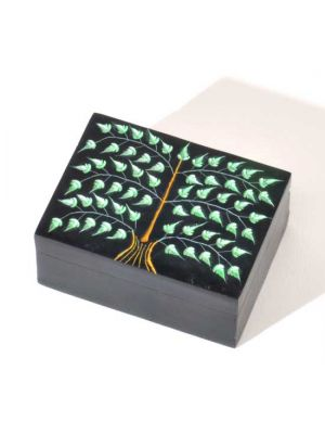 Carved Soapstone Tree of Life Box 3