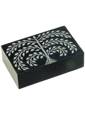 Black Stone Box Tree of Life 4x6