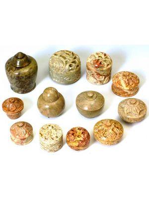 Stone Boxes Assorted Set/12 Large