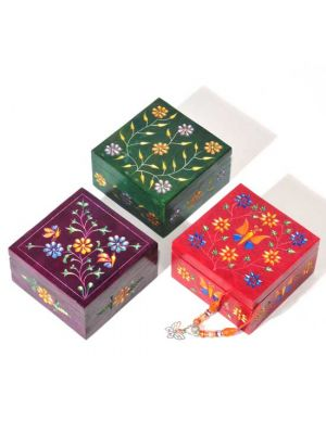 Colorful Stone Boxes Set/3 4