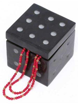 Stone Funny Dice Hinged Box 3