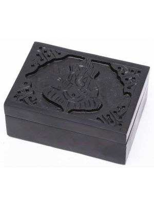 Ganesha Black Soapstone Box 3