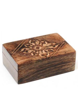 Hand Carved Mango Wood Box 6