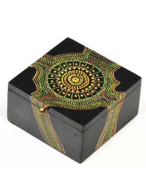 Hand Painted Wood Dots Box 5