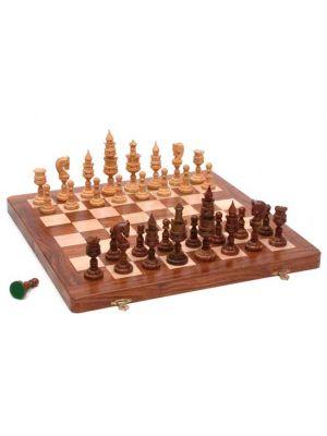 Folding Wood Chess Set 16