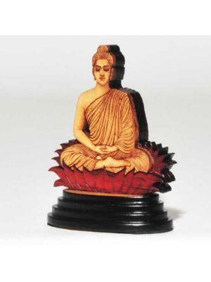 Laser Etched Wood Buddha 2.6