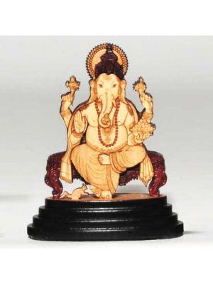 Laser Etched Wood Ganesha 2.6