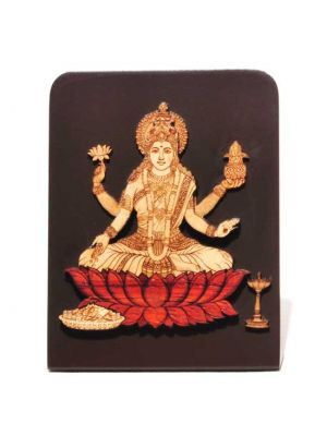 Laser Etched Laxmi with Stand 4