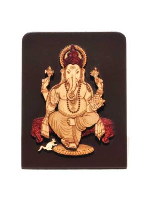 Laser Etched Ganesha with Stand 4
