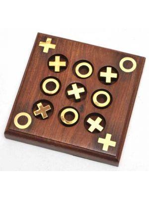 Wood Tic Tac Toe Game 6