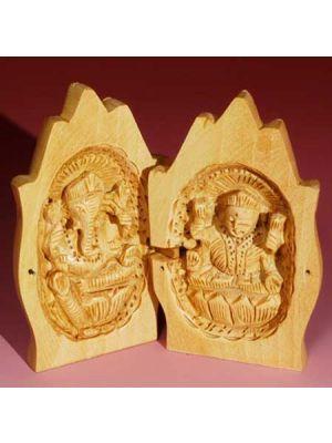 Wood Namaskar Laxmi Ganesh 4